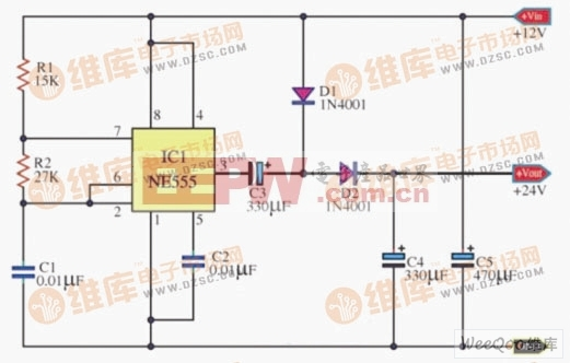 简单电路图-简易直流倍压电源电路图片