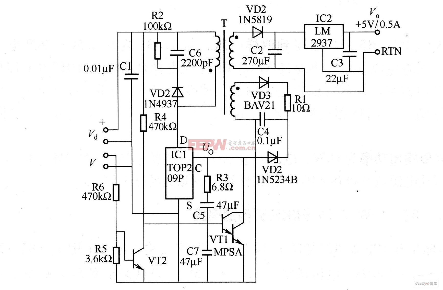 一种具有掉电保护功能的复合型开关电源电路