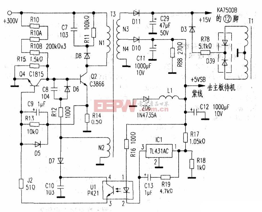 长城ATX-300P4--PFC电脑电源辅助电路