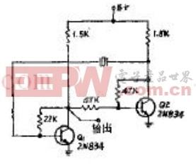 晶体控制的多谐振荡器电路原理图 -多谐