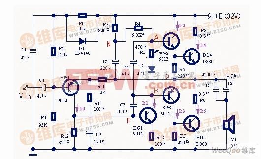 功率放大器改进电路图