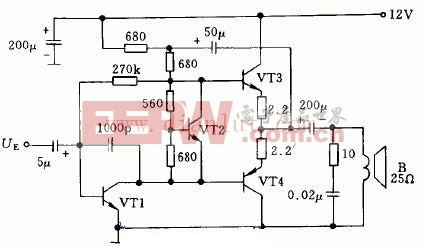 音响音量简单遥控电路及原理 -其他音频电路图图片