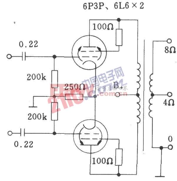 电子管免调试自偏压方式功放电路
