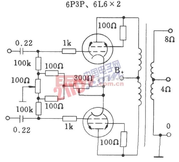 电子管典型半调试自偏压方式功放级电路