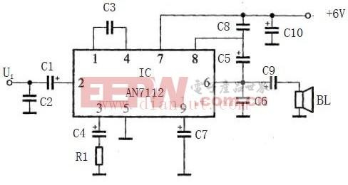 0.5W单声道OTL放大电路