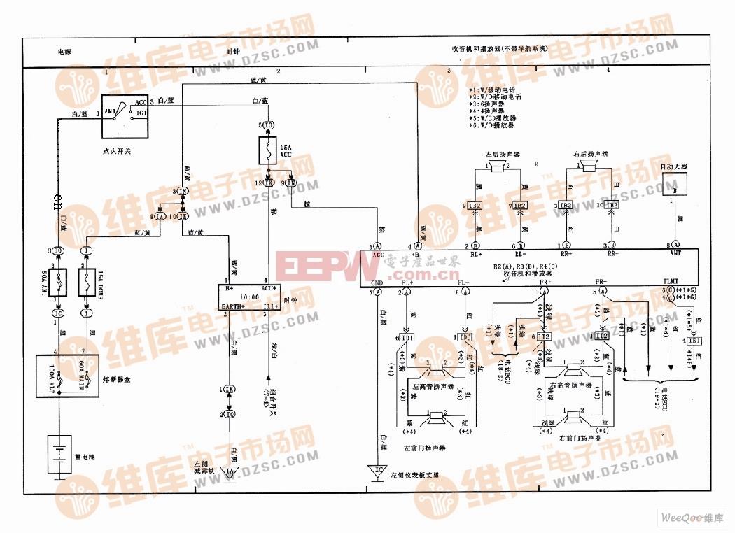 天津威驰导航系统、收音机和播放器电路图(一)