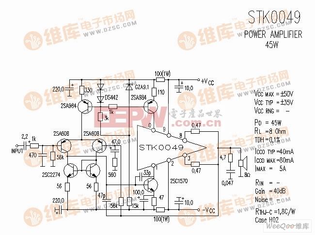 STK0049 音响IC电路