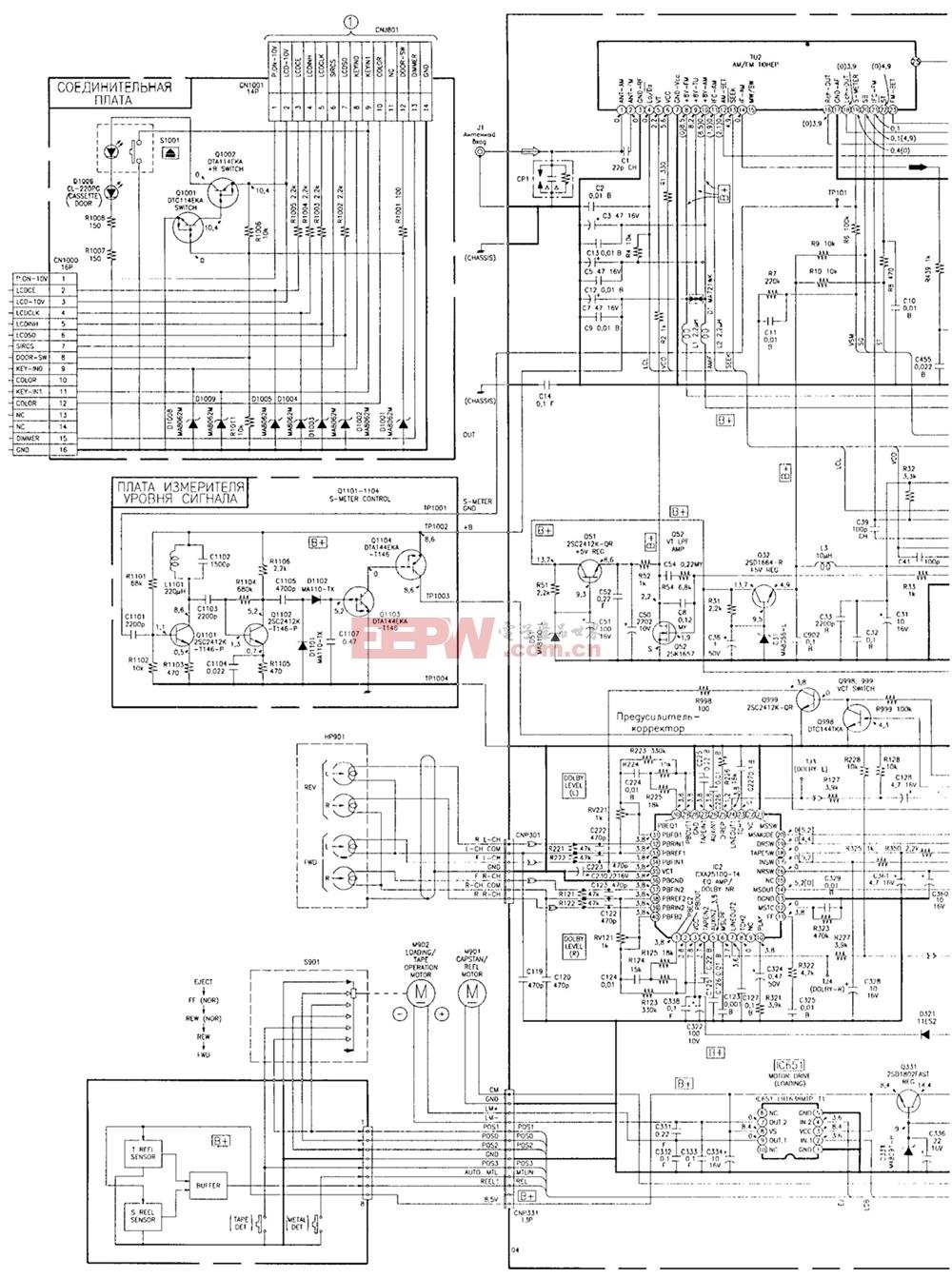 sony xr-c503汽车音响电路图纸