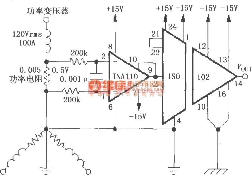 由ISO102构成的隔离式电源线监控电路