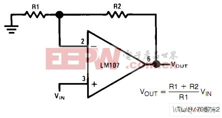 非反相放大器电路图