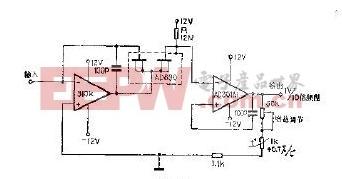 采用场效应管的对数放大器电路