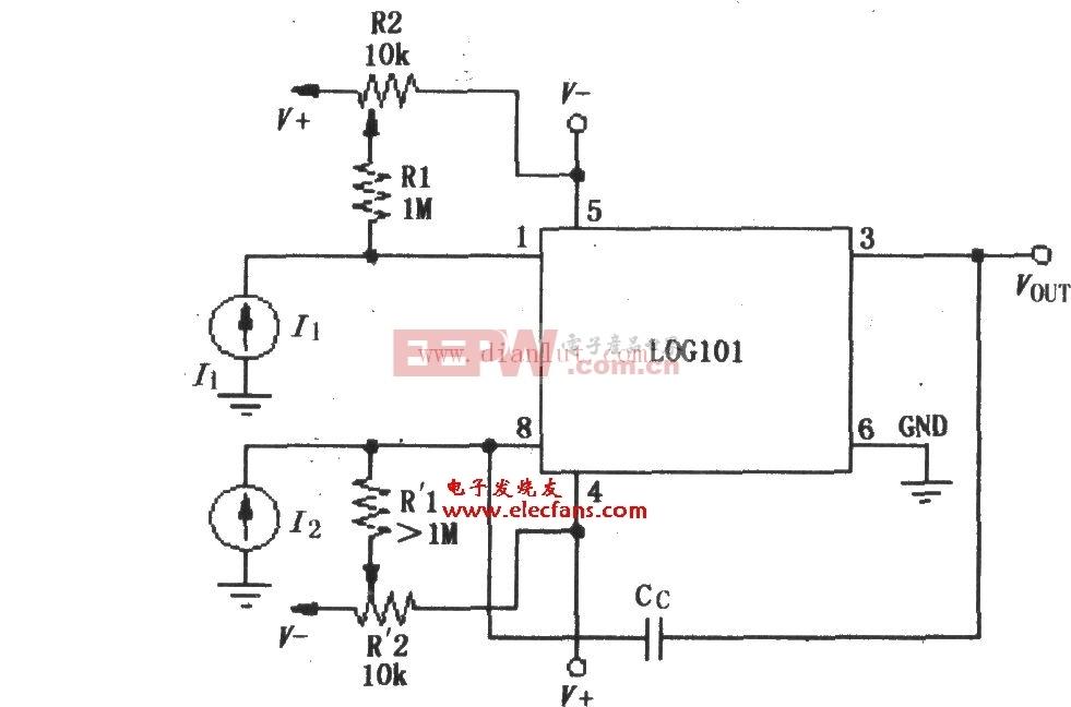LOG101/LOG104的偏流调零电路