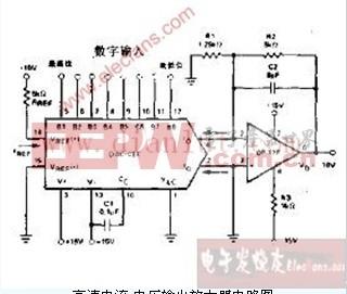 高速电流.电压输出放大器电路电路图图片
