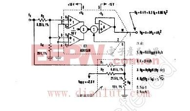 二次多项式发生器电路原理图