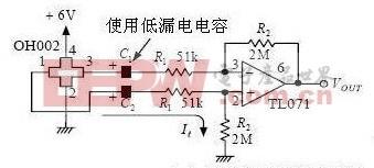 霍尔传感器基于TL071和TL084设计的放大电路