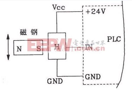 霍尔接近开关用于数控机床PLC的电路