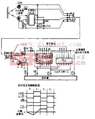 计数器的光强度检测电路原理图