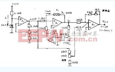 铂热电阻测湿的电路