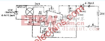 X型硅压力传感器变送器电路图