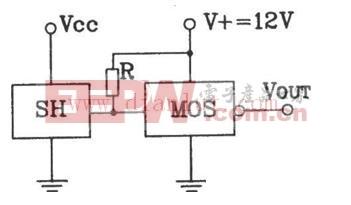 典型霍尔传感器与MOS连接电路连接输出接口电路图