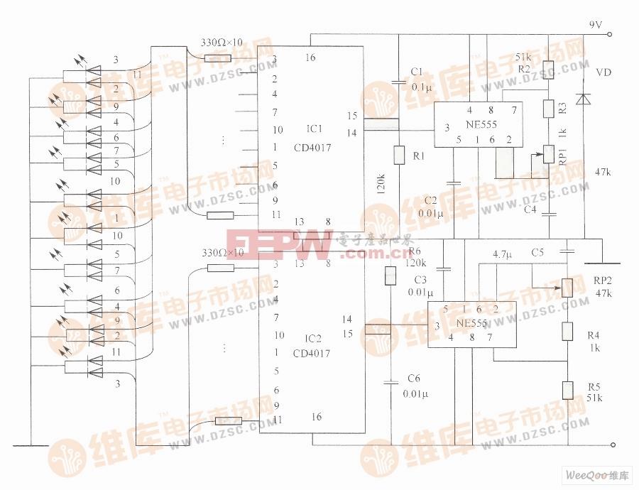 电路图 电流 演示 流动 方向/电流流动方向演示电路图