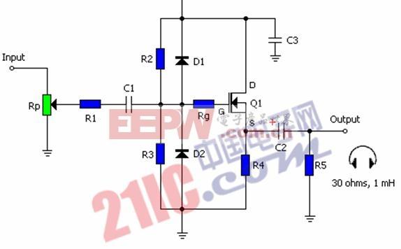 MOSFET A类放大电路及其关键参数