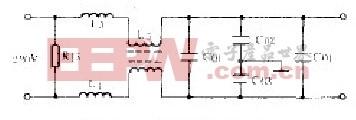 电磁兼容滤波电路示意图