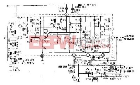 HA11235场扫描内部等效电路和外围电路