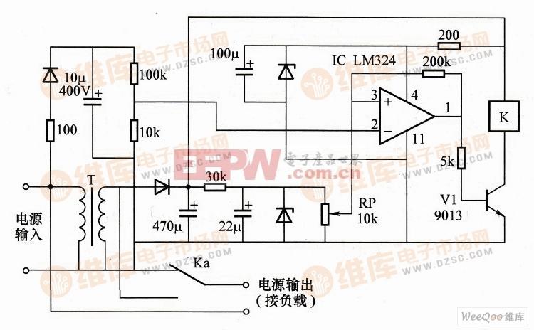 交流电源自动调压器电路图图片