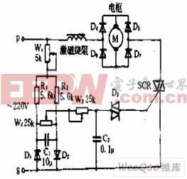 串激电机的转向和转速控制电路图片
