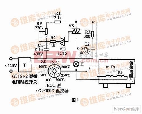 储热式电暖气的制作电路图