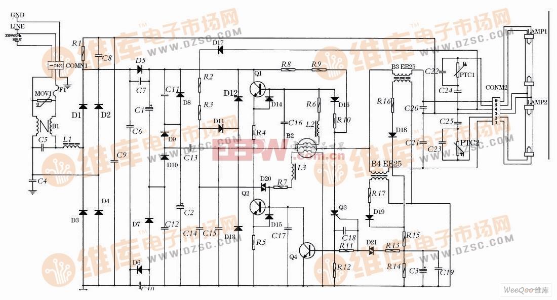 电流保护型的电子镇流器的异常状态保护电路