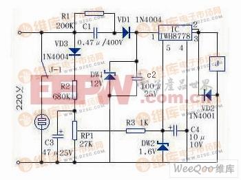 过压自动断电装置电路