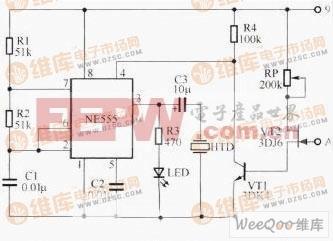 简易的线路断点声光检测仪电路