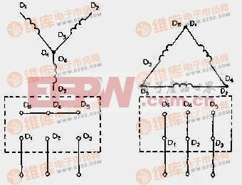 三相交流电动机接线电路图图片