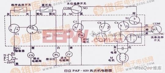 日立PAF-820洗衣机电路图
