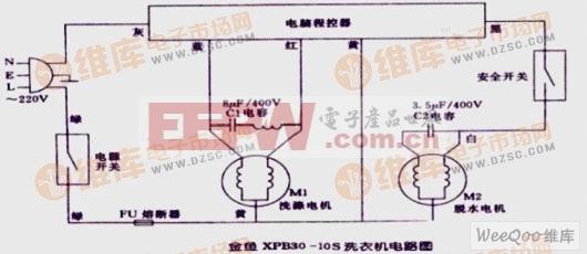 金鱼XPB30-10S洗衣机电路图