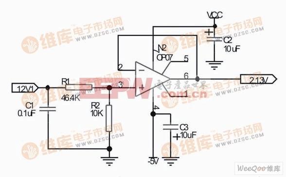 12V检测电压的调理电路