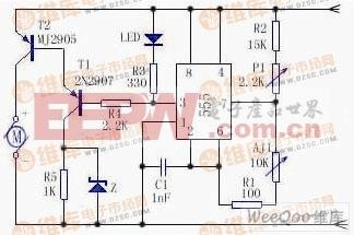 简易电机调速电路图图片