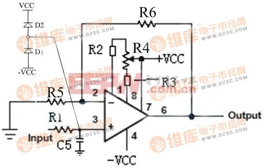 0-100kHz精密仪表放大器电路