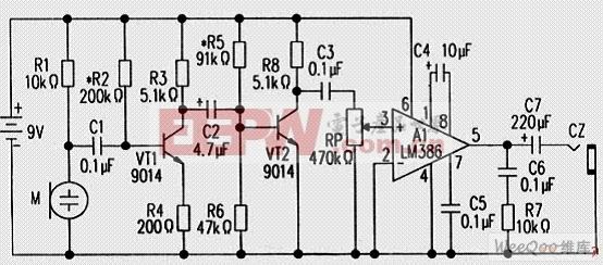 冰箱/冷库/空调制冷剂泄漏检测仪电路