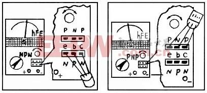 晶体管测量图