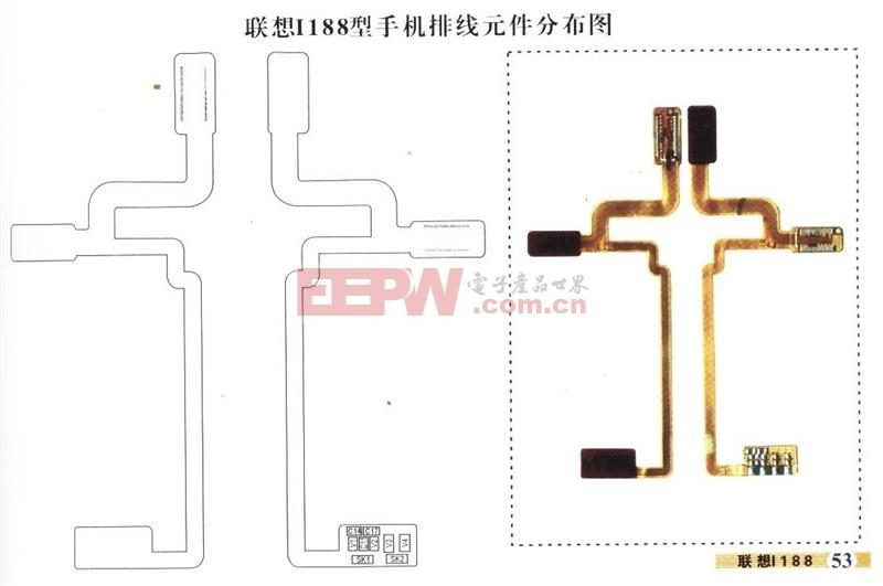 联想I188-1手机排线分布原理图