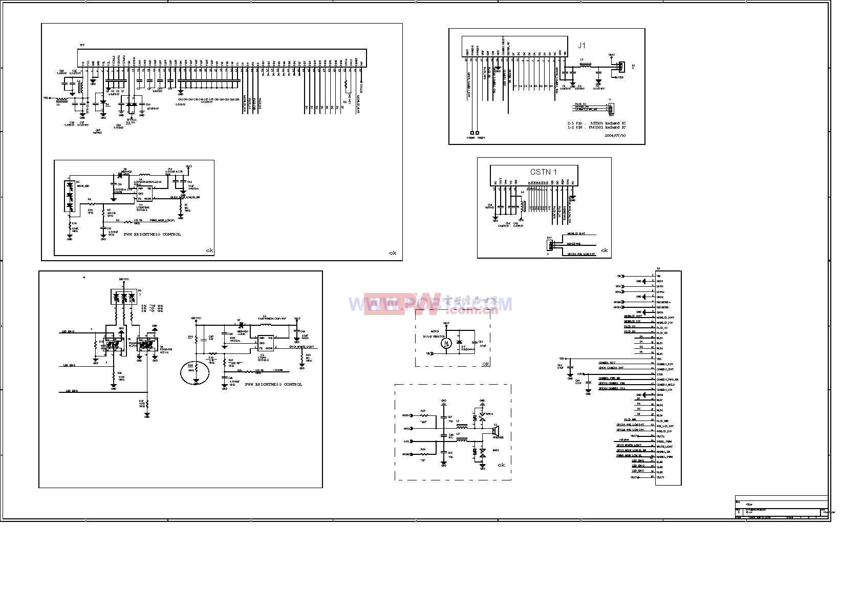 托普968,656-LCM电路设计分图