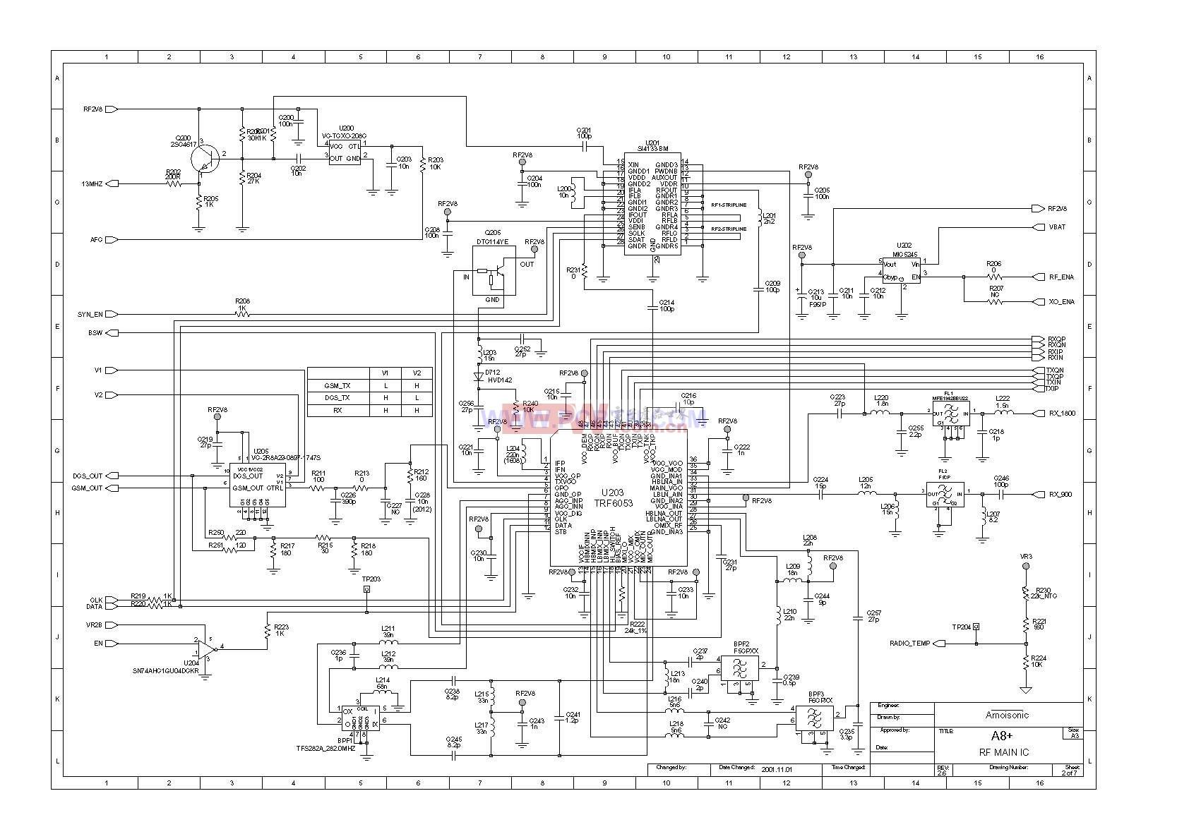 基带芯片组均采用小体积的bga封装,其他的贴片阻容电感等器件均尽量