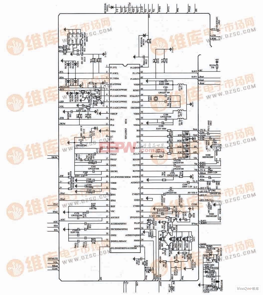 长虹PF29118电视机超级芯片电路图