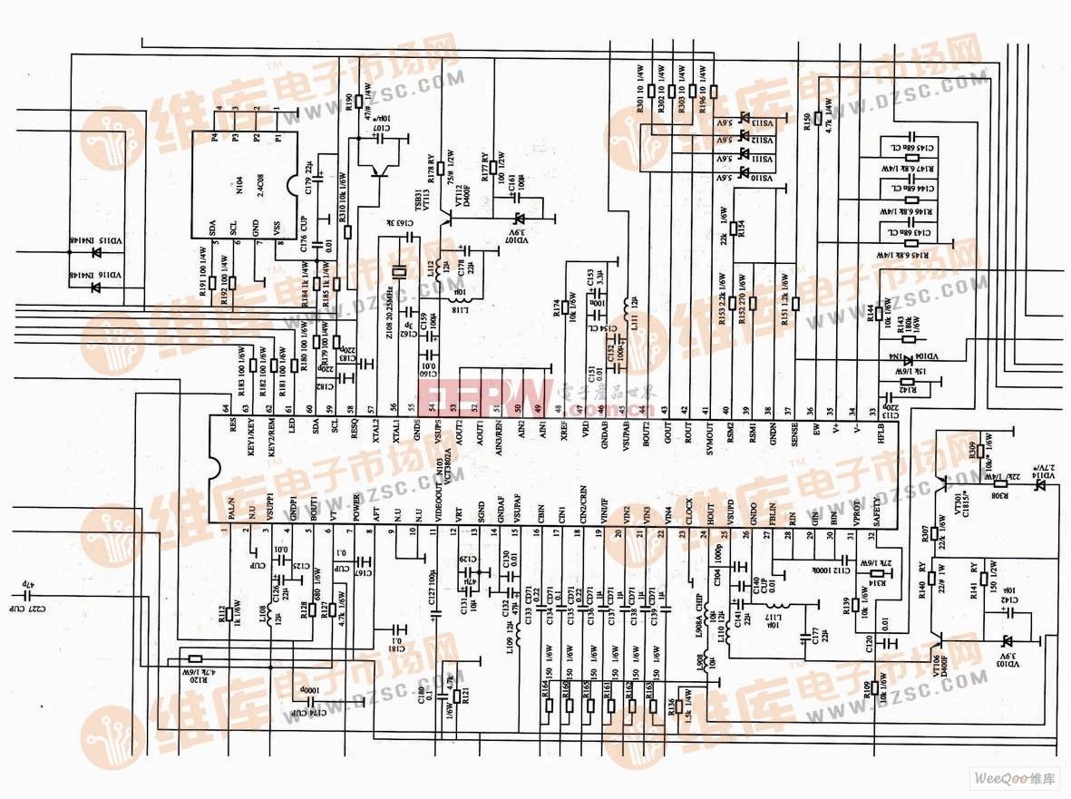 康佳VC3802A超级芯片电路图