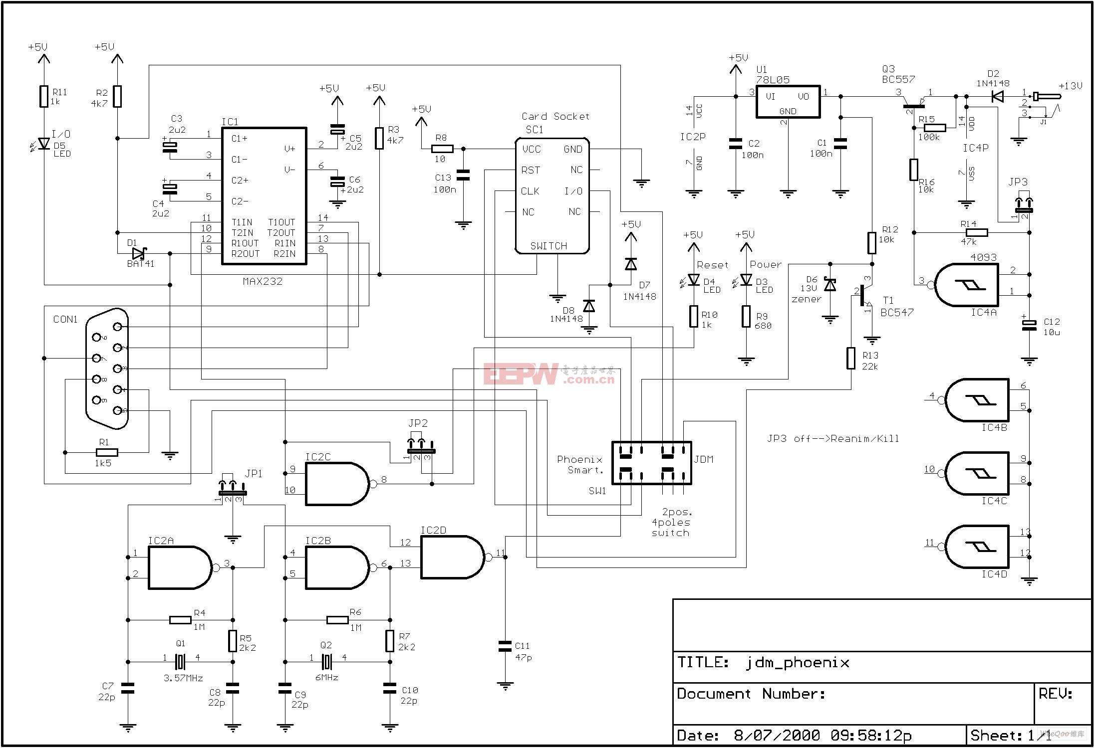 读卡器电路原理图