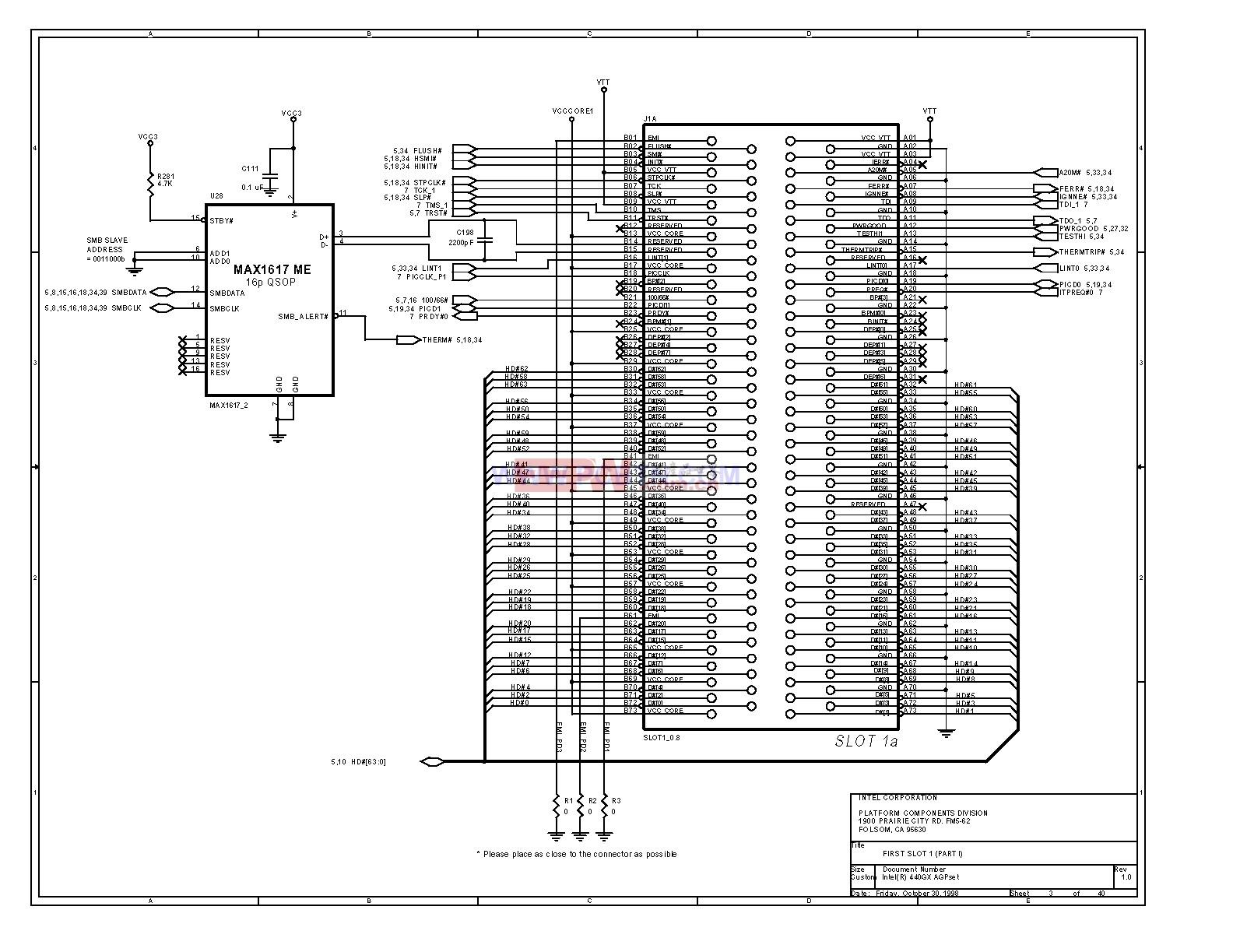 电脑主板440GX[_]03型芯片组