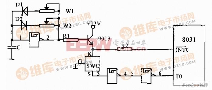 数字式温度传感器的外加电方式接口电路